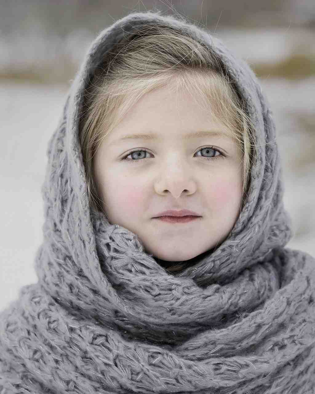 hiver, foulard, froid